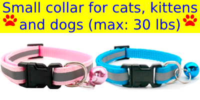 small pet collar reflective with bell detachable