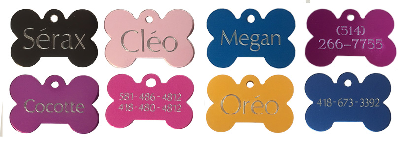 pet tag engraved dog and cat